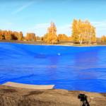 Гидроизоляция водоемов ПВХ-тканью