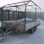 Каркас на легковой прицеп со скосом, изготовлен компанией «Москватент» в Москве