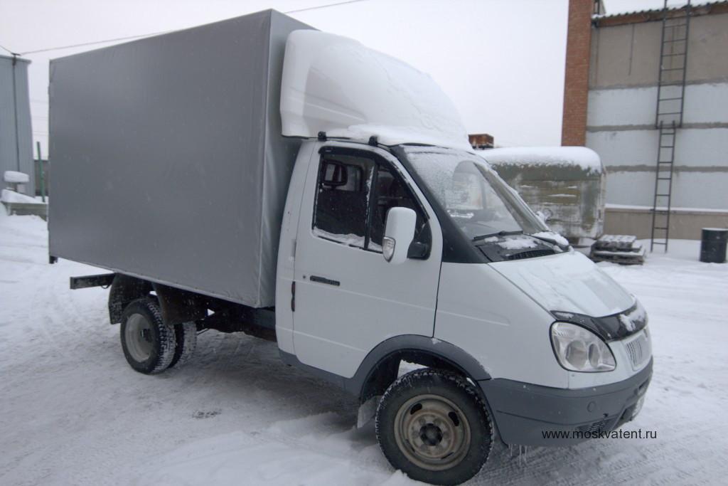 """Изготовление высокого прямоугольного тента на грузовик """"Газель"""" в Москве"""