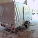 Тент и каркас для легкового прицепа с передним скосом в Москве