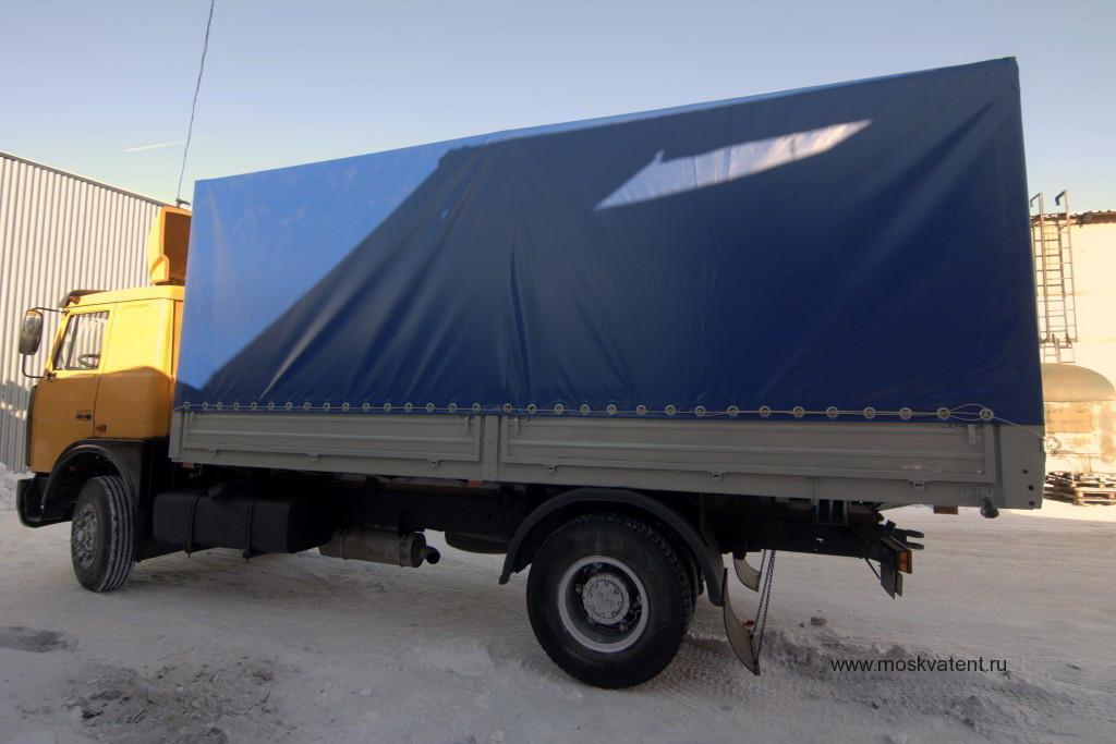 Изготовление и монтаж ПВХ-тента на грузовик МАЗ в Москве