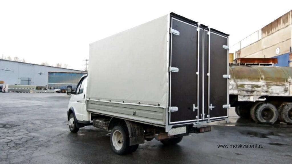 Изготовление прямоугольного каркаса, тента и автомобильных ворот на грузовик «Газель» в Москве