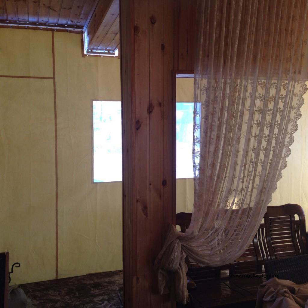Защитная штора для укрытия веранды