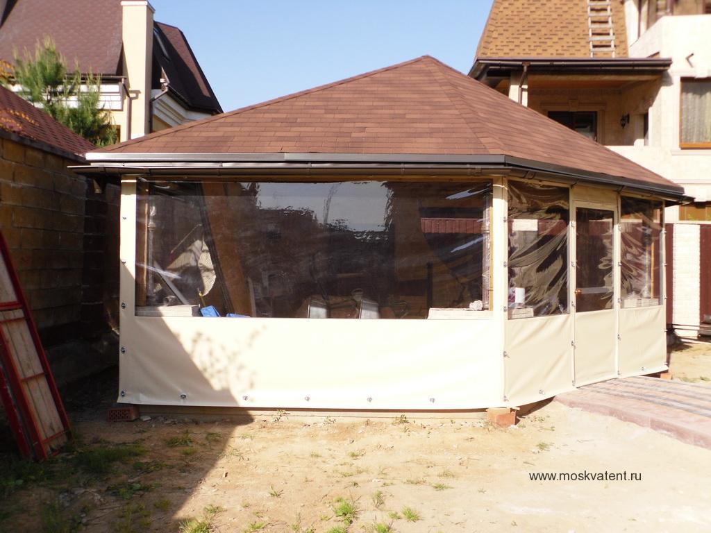 Защитные шторы для веранды из ПВХ-ткани
