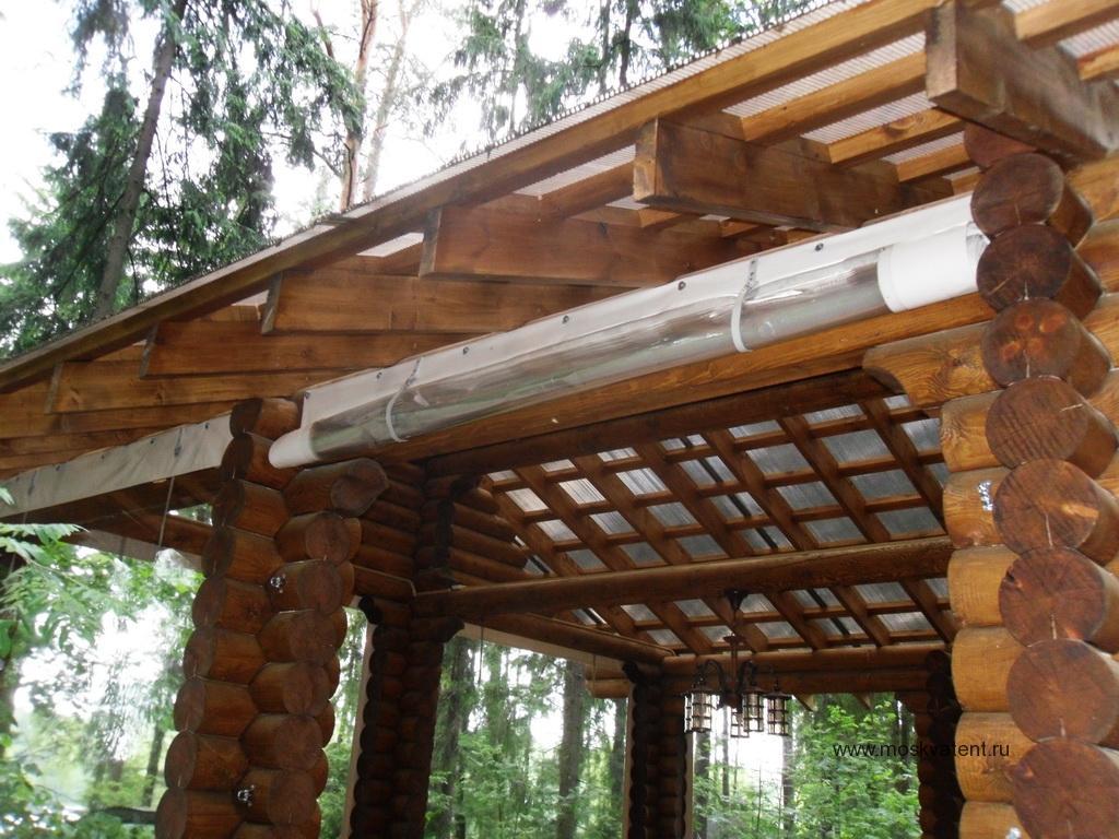 Изготовление защитных шторы для веранды