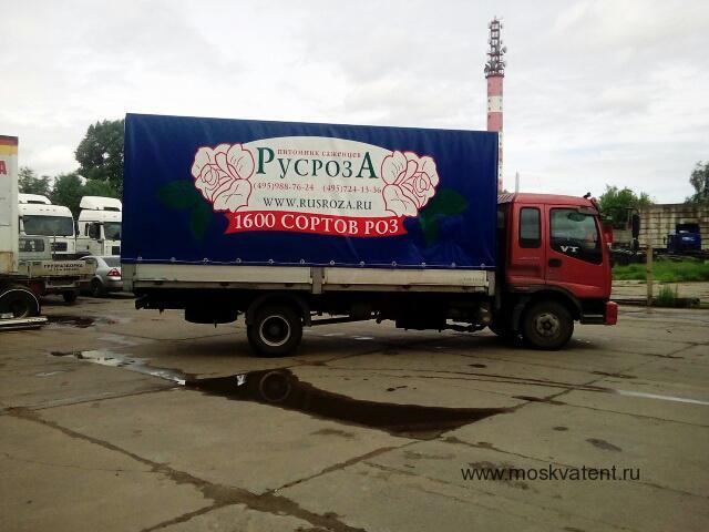 Печатный тент на грузовик Mercedes