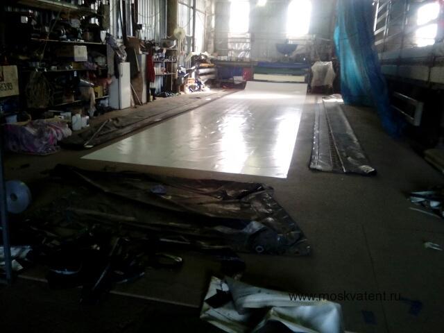 Замена крыши сдвижного тента Krone