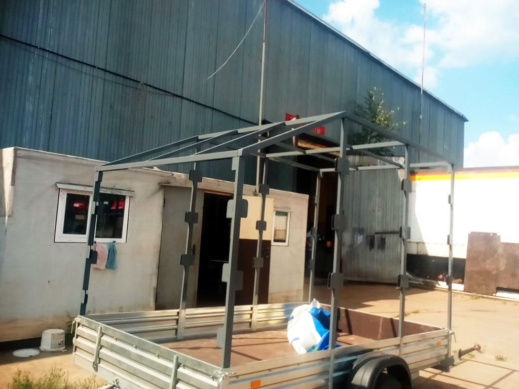 Изготовление высокого каркаса для легкового прицепа МЗСА в Москве. Компания «Москватент»