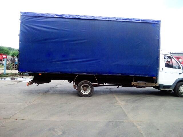 Переделка тента грузовика «Газ-Валдай» на сдвижную штору в Москве, компания «Москватент»