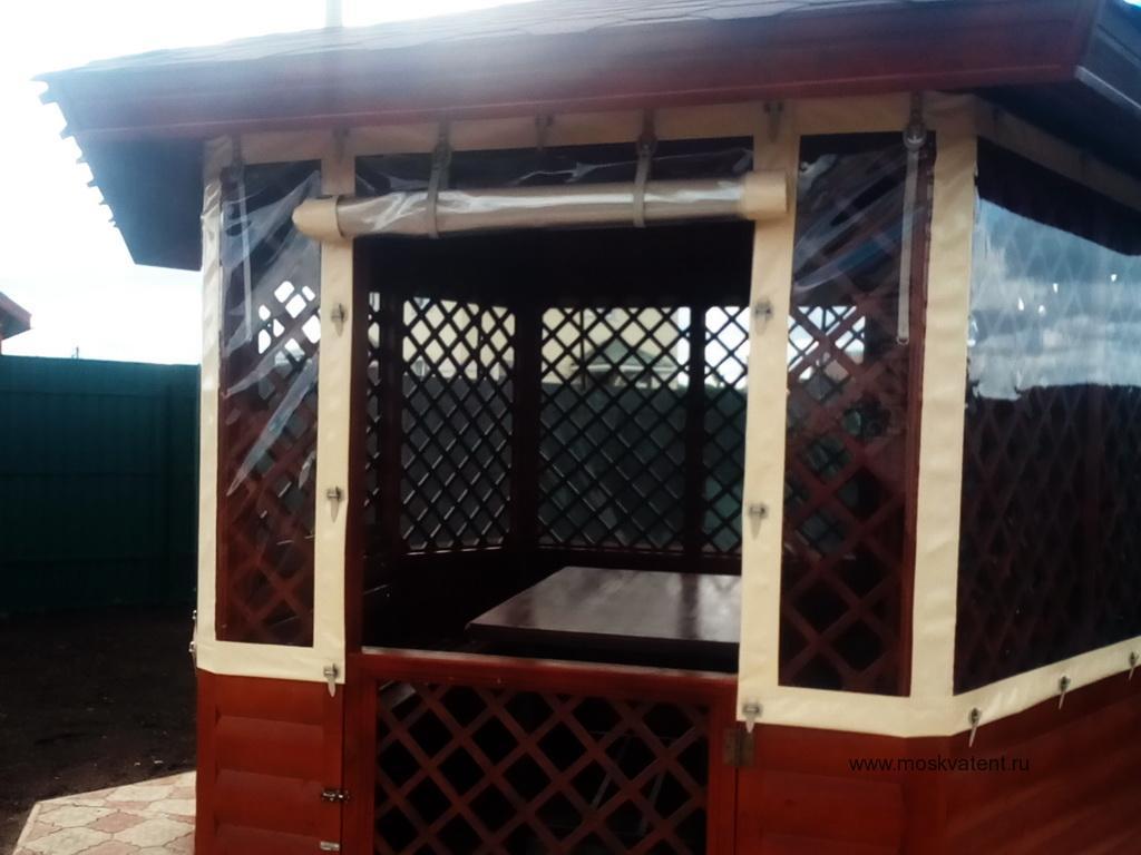 Прозрачные ПВХ-шторы для беседки