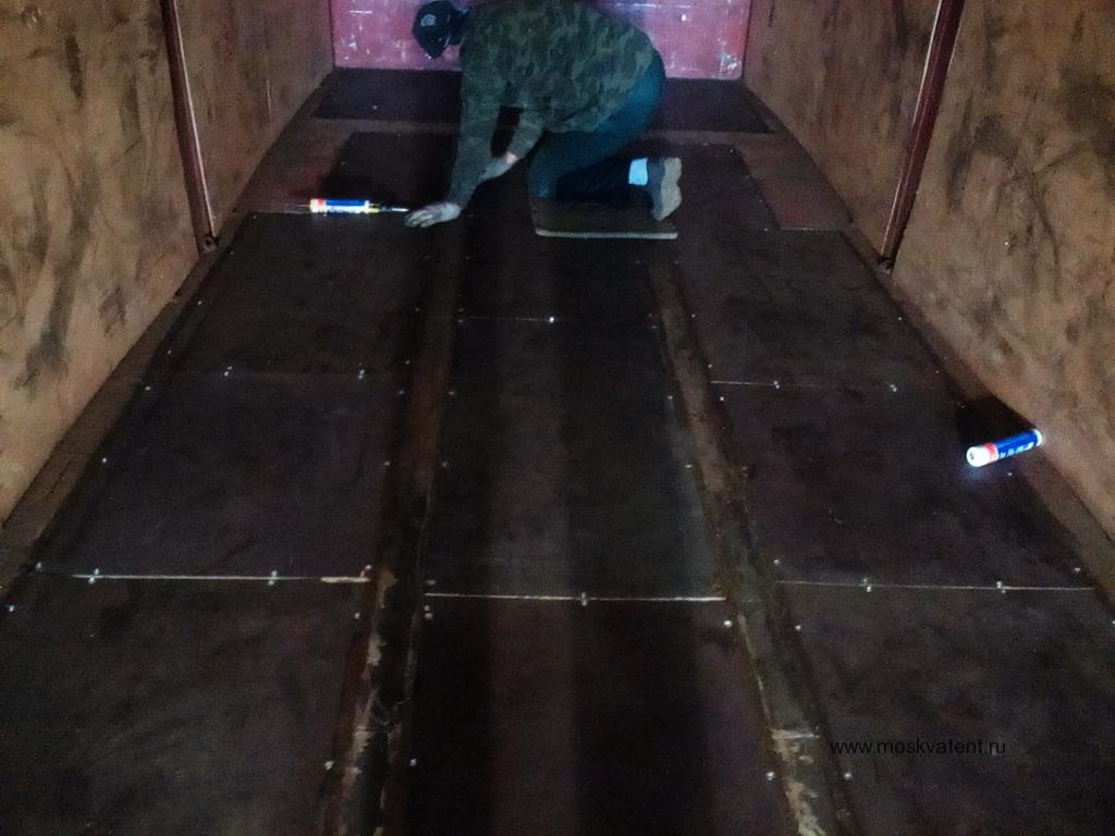 Ремонт полов тентованной будки грузовика Man в Москве
