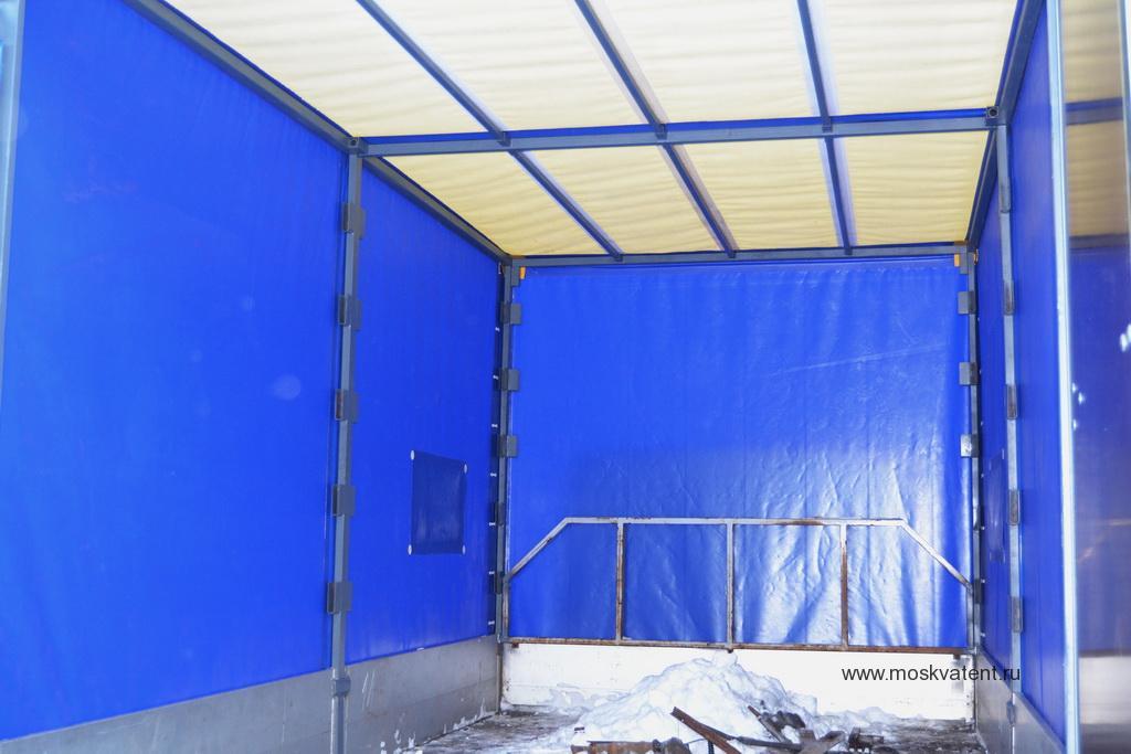 Белая крыша тента грузовика Iveco Daily