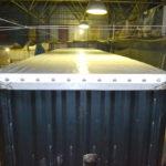 Изготовление тента сдвижной крыши для прицепа Samro