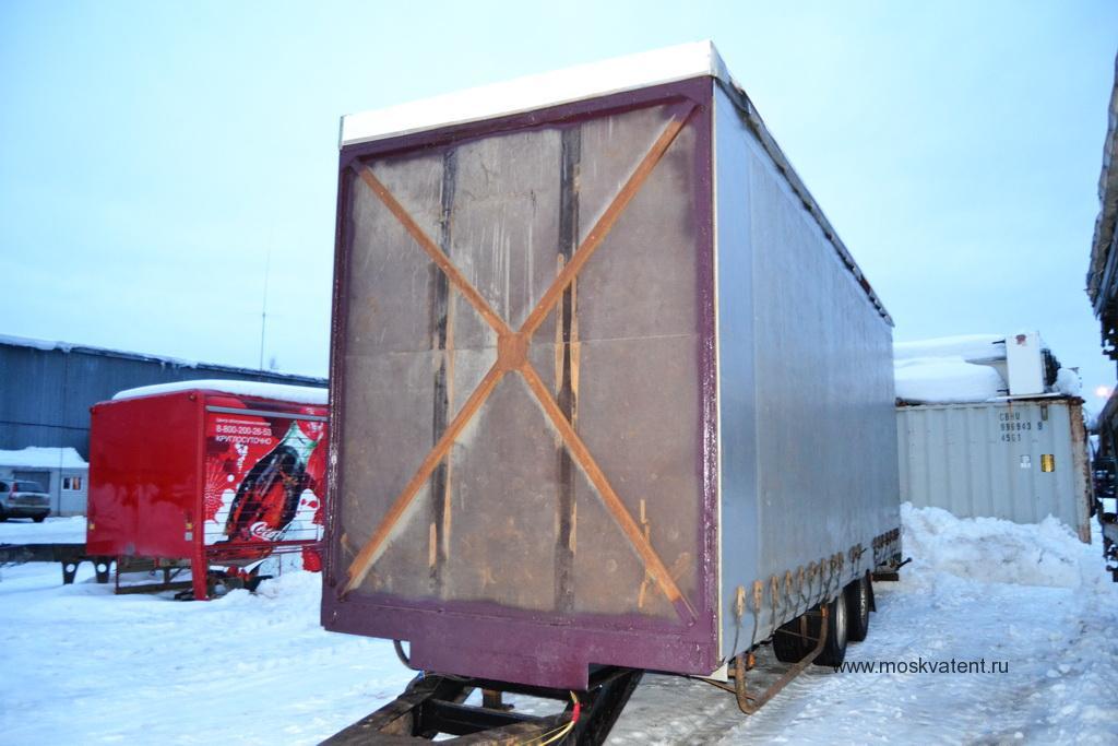 Задняя стенка увеличенного грузового прицепа