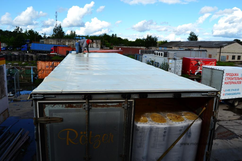 Тент крыши грузового прицепа Schmitz