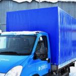 Тент на грузовик Iveco Daily в Москве, изготовление и монтаж каркаса, тента и ворот на грузовой автомобиль Iveco Daily