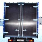 Задние ворота на грузовик Iveco Daily в Москве, изготовление и установка задних распашных ворот на грузовой автомобиль Iveco Daily